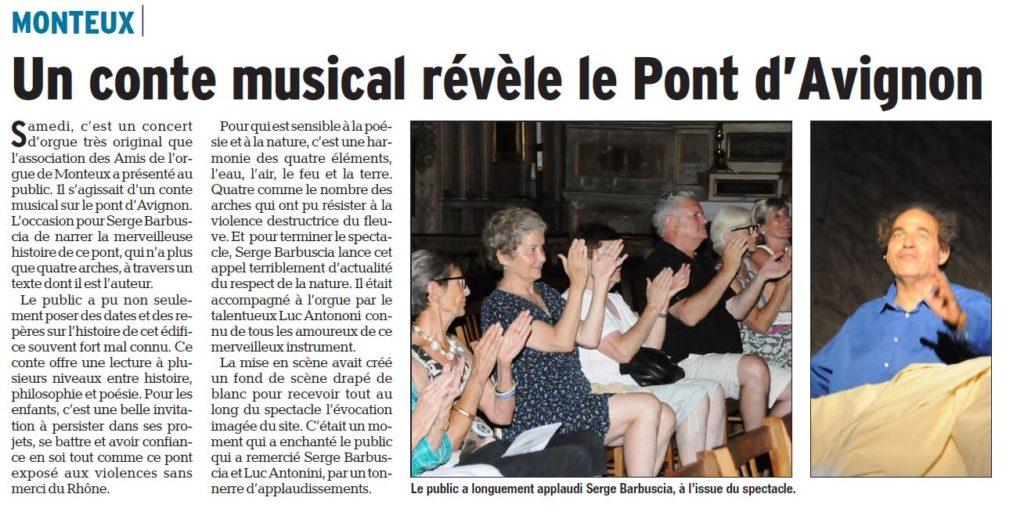 Dauphiné Le secret du Pont Avignon Orgue Monteux