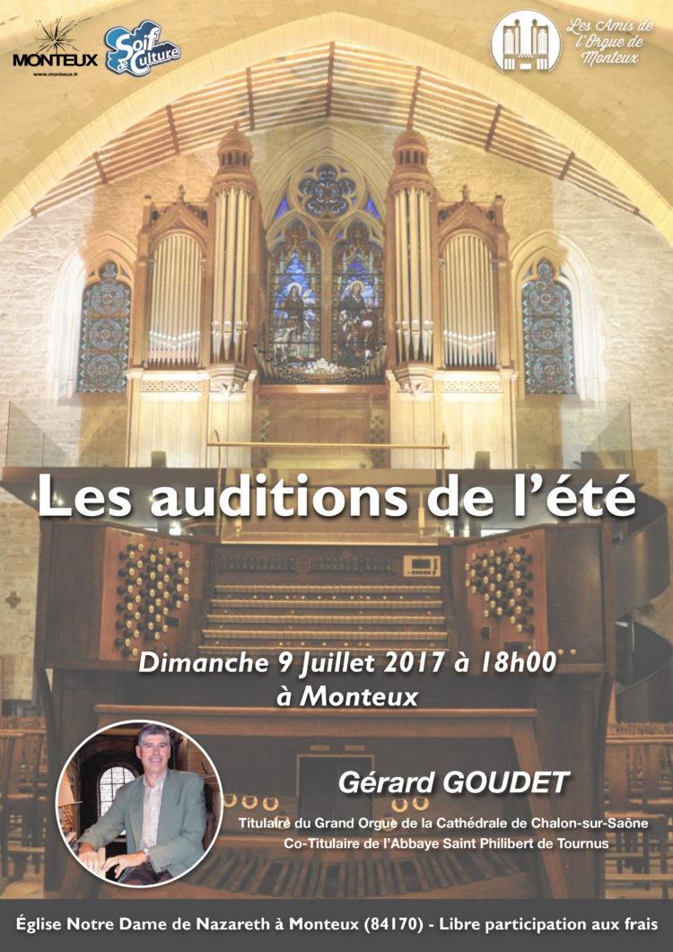 Gerard Goudet Les Auditions de l'Été des Amis de L'Orgue de Monteux