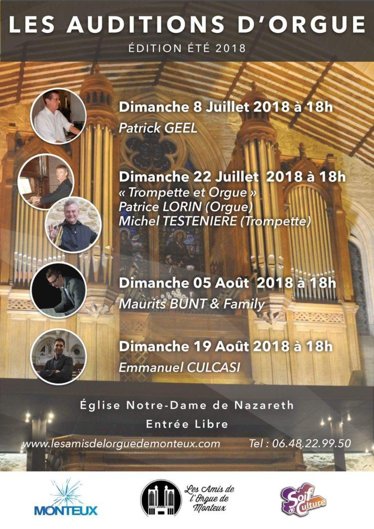 Les Auditions de l'été 2018 - Monteux